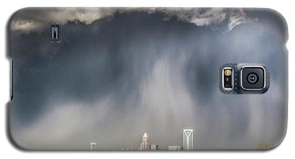 Skylines Galaxy S5 Case - Rainbow Over Charlotte by Chris Austin