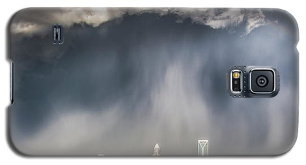 City Scenes Galaxy S5 Case - Rainbow Over Charlotte by Chris Austin