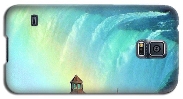 Galaxy S5 Case featuring the photograph Rainbow Over Horseshoe Falls by Janette Boyd
