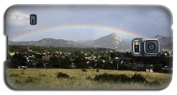 Rainbow Over Lake Estes Galaxy S5 Case