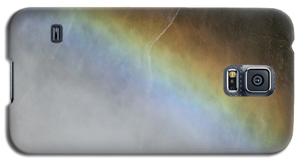 Galaxy S5 Case featuring the photograph Rainbow Over The Falls by Laurel Powell