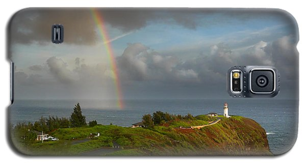 Rainbow Over Kilauea Lighthouse On Kauai Galaxy S5 Case