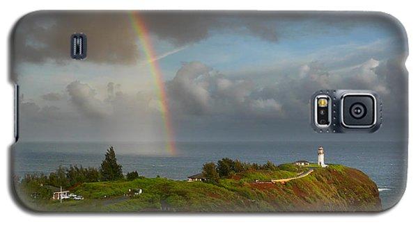 Rainbow Over Kilauea Lighthouse On Kauai Galaxy S5 Case
