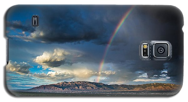 Rainbow Over The Sandias Galaxy S5 Case
