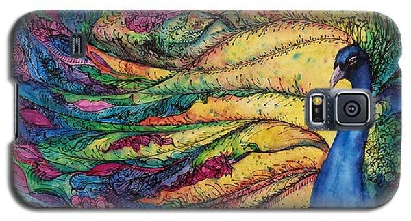 Rainbow Peacock Galaxy S5 Case