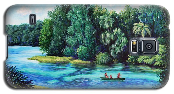 Galaxy S5 Case featuring the painting Rainbow River At Rainbow Springs Florida by Penny Birch-Williams