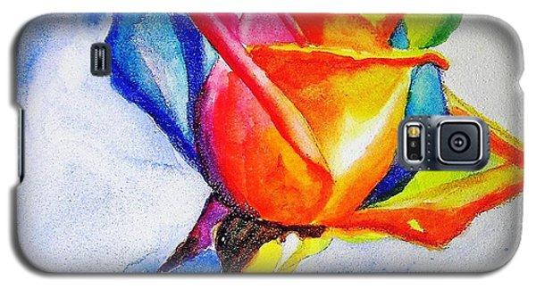 Rainbow Rose Galaxy S5 Case by Carlin Blahnik
