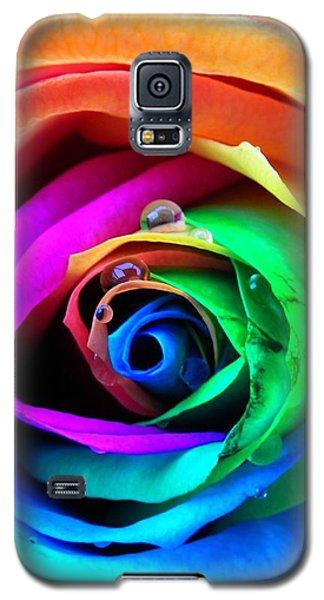 Rainbow Rose Galaxy S5 Case