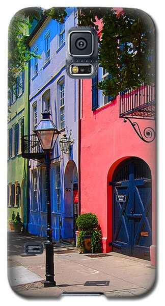 Rainbow Row Charleston Galaxy S5 Case by Skip Willits