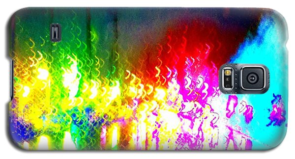 Galaxy S5 Case featuring the photograph Rainbow Splash Abstract by Marianne Dow