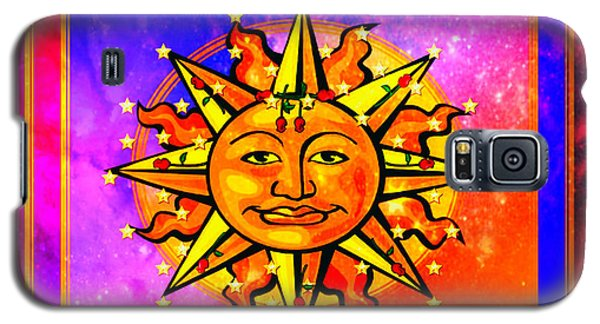 Galaxy S5 Case featuring the digital art Rainbow Sun by Mary Anne Ritchie