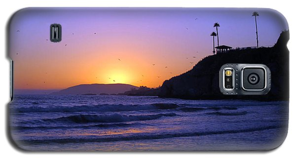 Galaxy S5 Case featuring the photograph Rainbow Sunset by Debra Thompson