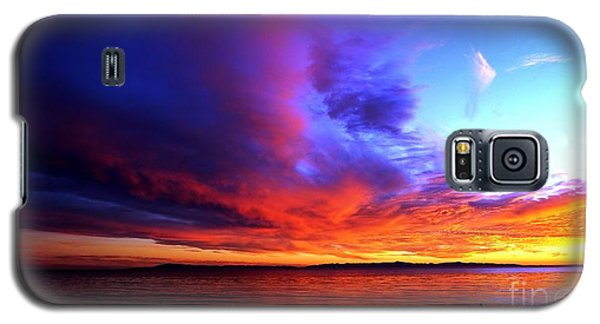Galaxy S5 Case featuring the photograph Rainbow Sunset by Sue Halstenberg