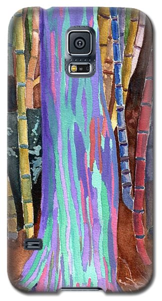 Galaxy S5 Case featuring the painting Rainbow Tree by Lynne Reichhart