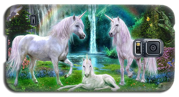 Rainbow Unicorn Family Galaxy S5 Case