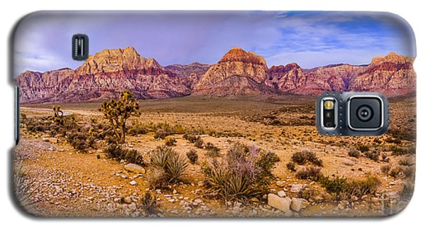 Rainbow Wilderness Panorama At Red Rock Canyon Before Sunrise - Las Vegas Nevada Galaxy S5 Case