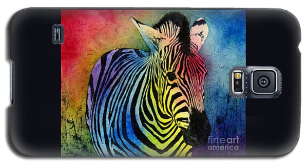 Rainbow Zebra Galaxy S5 Case