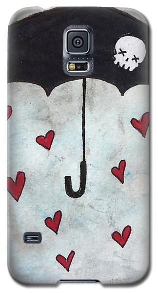 Galaxy S5 Case featuring the painting Raindrops Of Love by Oddball Art Co by Lizzy Love