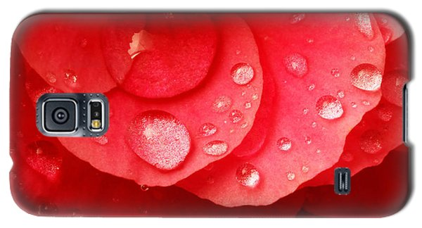 Raindrops On Red Begonia Galaxy S5 Case