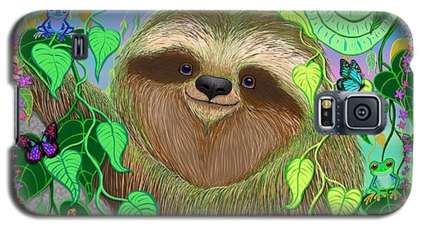 Rainforest Sloth Galaxy S5 Case