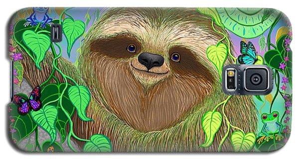 Rainforest Sloth Galaxy S5 Case by Nick Gustafson