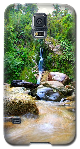 Galaxy S5 Case featuring the photograph Rainforest Stream New Zealand by Amanda Stadther