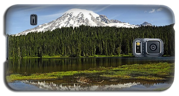 Galaxy S5 Case featuring the photograph Rainier's Reflection by Tikvah's Hope