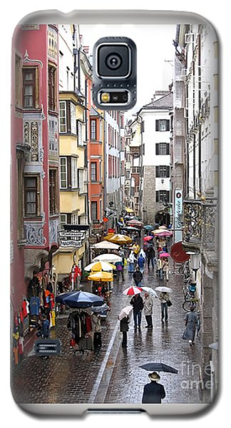 Galaxy S5 Case featuring the photograph Rainy Day Shopping by Ann Horn