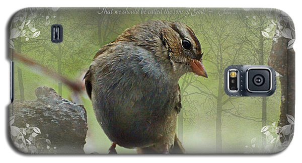 Rainy Day Sparrow With Verse Galaxy S5 Case