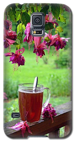 Rainy Day Tea Galaxy S5 Case by Lila Fisher-Wenzel