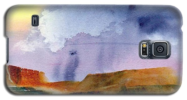 Galaxy S5 Case featuring the painting Rainy Skies by Anne Duke