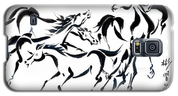 Galaxy S5 Case featuring the painting Rambunctious by Bill Searle
