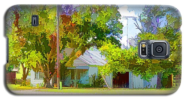 Ranch House Painting Galaxy S5 Case by Linda Phelps