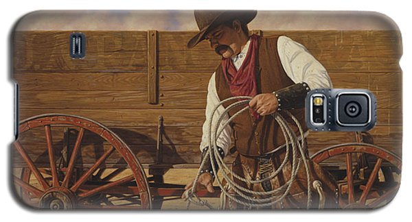 Galaxy S5 Case featuring the painting Ranch Wagon by Ron Crabb