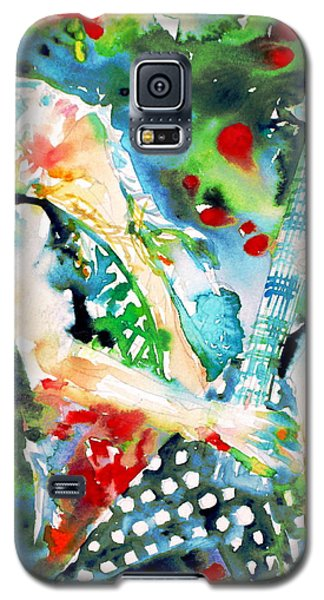 Randy Rhoads Playing The Guitar - Watercolor Portrait Galaxy S5 Case
