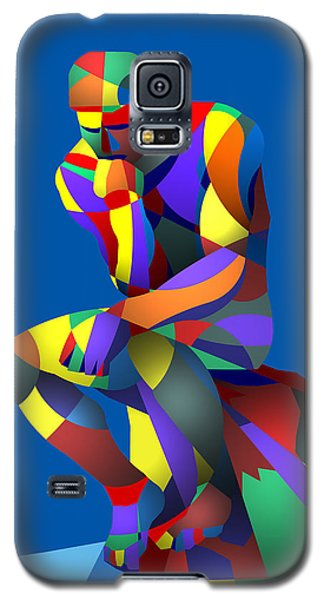 Galaxy S5 Case featuring the digital art Randy's Rodin Blue by Randall Henrie