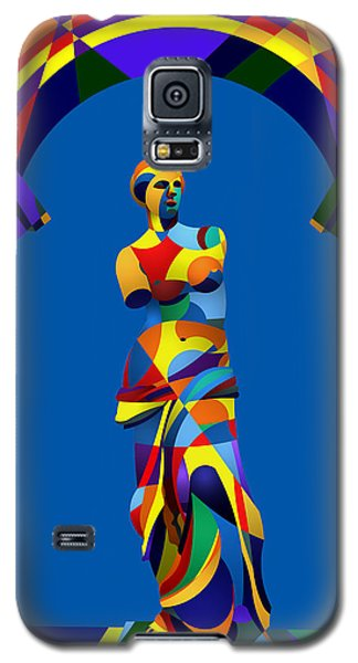 Galaxy S5 Case featuring the digital art Randy's Venus Blue by Randall Henrie