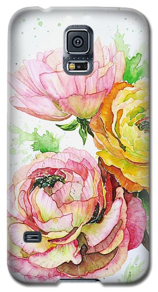 Ranunculus Flowers Galaxy S5 Case by Zaira Dzhaubaeva