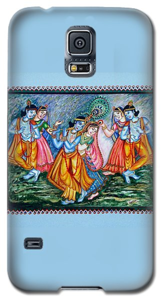 Galaxy S5 Case featuring the painting Ras Leela by Harsh Malik
