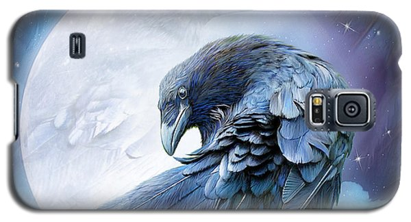 Raven Moon Galaxy S5 Case by Carol Cavalaris