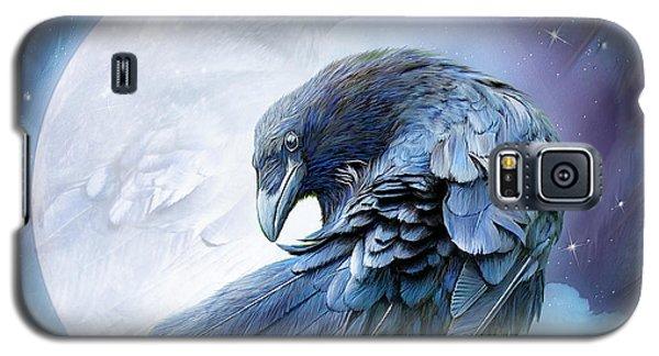 Raven Moon Galaxy S5 Case by Carol Cavalaris