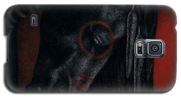 Galaxy S5 Case featuring the painting Raven Wing by Pat Erickson