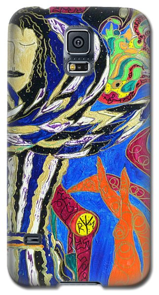 Galaxy S5 Case featuring the painting Raven Woman by Clarity Artists