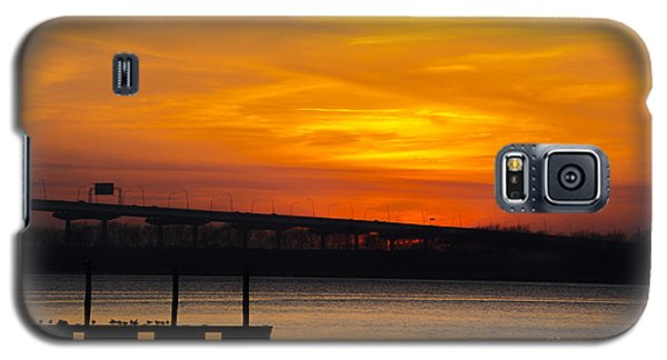 Galaxy S5 Case featuring the photograph Orange Blaze by Dale Powell