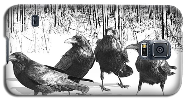 Ravens By The Edge Of The Woods In Winter Galaxy S5 Case