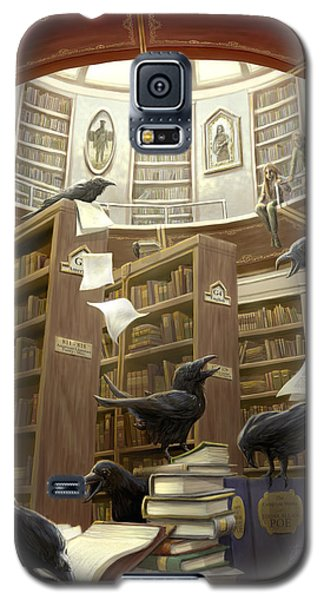 Raven Galaxy S5 Case - Ravens In The Library by Rob Carlos