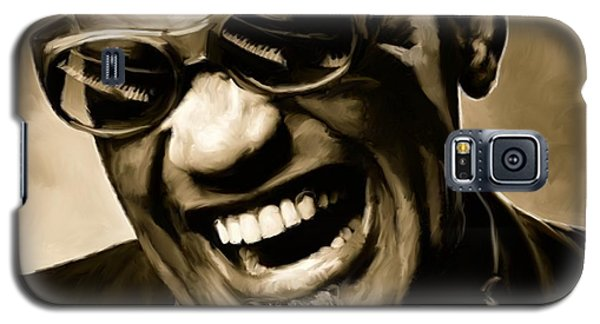 Ray Charles - Portrait Galaxy S5 Case by Paul Tagliamonte