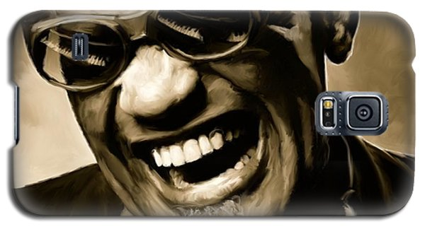 Music Galaxy S5 Case - Ray Charles - Portrait by Paul Tagliamonte