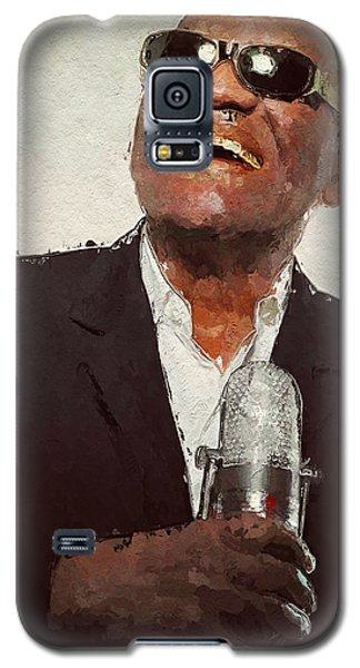 Galaxy S5 Case featuring the painting Ray Charles by Wayne Pascall