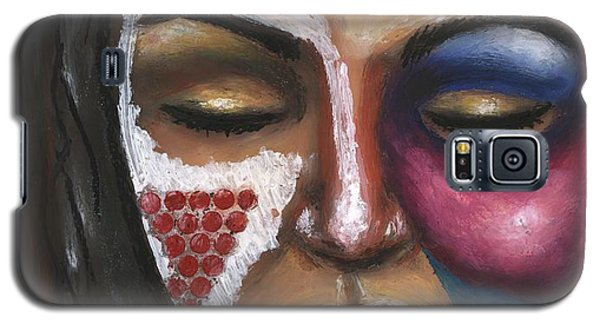 Galaxy S5 Case featuring the painting Reaching Deep Within by Alga Washington